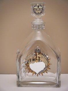 Upcycled liquor bottle