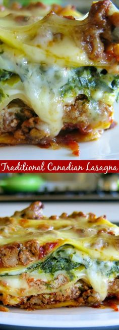 Traditional Canadian Lasagna - An exceptionally delicious lasagna recipe!-Traditional Canadian Lasagna – An exceptionally delicious lasagna recipe! Source by artandthekitch- Recipes With Lasagna Noodles, Pasta Recipes, Beef Recipes, Italian Recipes, Cooking Recipes, Healthy Lasagna Recipes, Italian Meals, Fun Recipes, Noodle Recipes
