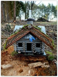 SOLD Recycled / Upcycled Handmade Bird House. $68.00, via Etsy. Some people are so creative....