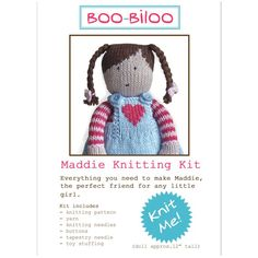 Knitted Doll Pattern by Boo-Biloo on etsy