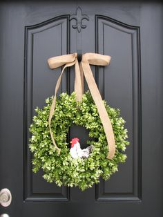Spring Wreath With Rooster