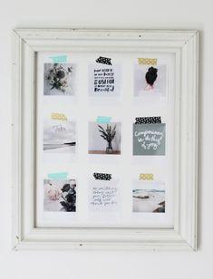 Framed polaroids