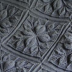 Crochet pattern embossed leaves blanket new embossed crochet technique permission to sell finished items Crochet Squares, Crochet Blanket Patterns, Crochet Motif, Crochet Stitches, Knitting Patterns, Knit Crochet, Granny Squares, Crochet Bedspread Pattern, Crochet Crafts