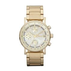 DKNY Ladies gold chronograph dial bracelet watch- at Debenhams Mobile Most Popular Watches, Jewelry Tattoo, Watch Brands, Fashion Watches, Lady, Michael Kors Watch, Gold Watch, Chronograph, Jewelry Gifts
