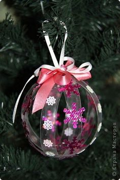 Master Class Designer: bolas de Natal fora de garrafas de plástico, garrafas de plástico, o Ano Novo.  Foto 6                                                                                                                                                                                 Mais