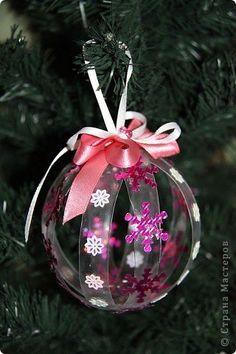 Master Class Designer: bolas de Natal fora de garrafas de plástico, garrafas de plástico, o Ano Novo. Foto 6