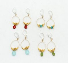 Items similar to Indian Summer Earrings with 24 kt gold vermeil beads and Red Coral stones on Etsy Jewelry Ideas, Diy Jewelry, Jewelry Making, Jewellery, Unique Jewelry, Coral Turquoise, Red Coral, Blue Chalcedony, Indian Summer