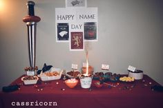 How to throw a Game of Thrones themed Party like I did. I share some tips and tricks to host a Feast for Crows even if you are on a budget. Happy Name Day, Happy Names, Dragon Fire Pit, A Feast For Crows, Game Of Thrones Party, Dungeons And Dragons Dice, Dragon Dies, Got Party, Home