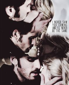 Once Upon a Time Captain Hook and Emma Kiss | Captain Hook and Emma Swan Emma SCREW WHO MADE THIS. IT IS NOT REAL. QUIT GIVING GIRLS ALL OVER THE WORLD FALSE HOPE