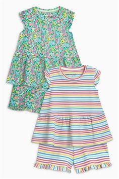 Ditsy Stripe Short Pyjamas Two Pack (9mths-8yrs) 42fc512a51d95