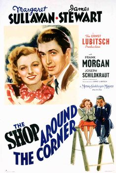 One-sheet poster featuring Margaret Sullavan as Klara Novak and James Stewart as Alfred Kralik, The Shop Around the Corner, 1940