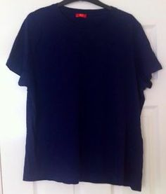 New - Womens F+F Plus Size Navy Blue T-Shirt Top Size 22 - £4.50