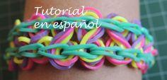Tutorial Pulsera de gomitas Rainbow Loom Taffy Twist en español