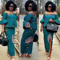 African Fashion: Latest Beautiful Ankara Skirt And Blouse Styles To Try outYou can find African Fashion: Latest Beautiful Ankara Skirt And Blouse Styles To Try outYou can find S. 2020 Best Stylish Ankara Skirt And Blouse Styles for Church Latest African Fashion Dresses, African Dresses For Women, African Print Fashion, African Attire, African Wear For Ladies, Ankara Rock, Ankara Skirt, Ankara Blouse, African Print Dress Designs