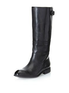 0147c9a2284 Rockport Women s Lola Pull-On Boot (Black) Classic riding style in smooth  leather with seaming details