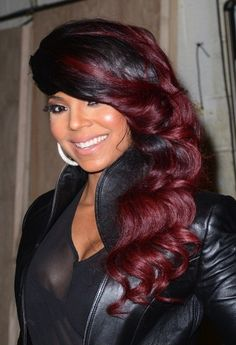 Love That Color On Pinterest Haircolor Black Women And