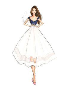 Bliss Print by HNIllustration on Etsy Fashion Drawing Dresses, Fashion Illustration Dresses, Fashion Illustrations, Fashion Dresses, Drawing Fashion, Dresses Art, Dress Design Sketches, Fashion Design Drawings, Fashion Sketches
