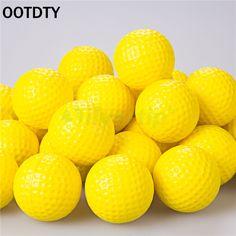 Indoor Outdoor Sports Training Practice Golf Elastic PU Foam Balls Yellow OOTDTY