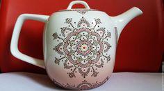 Купить Чайник заварочный,ручная роспись(Шоколадный орнамент)Чайник заварочный - коричневый, чайник, чайник заварочный
