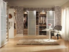 Fantastic Design Ideas Ikea Closets Provide Ideal Space for Clothes : Beautiful Flower Wallpaper Modern Design Ideas Ikea Closets