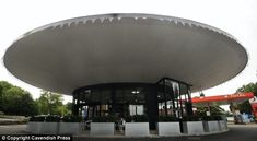 1960s space age | Space-age car showroom with flying saucer-shaped roof from the 1960s ...