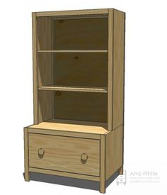 I want to make this!  DIY Furniture Plan from Ana-White.com  A drawer bench to tidy up entryways and children's room. Think outside the entryway - bathrooms, reading nooks or even nightstands!