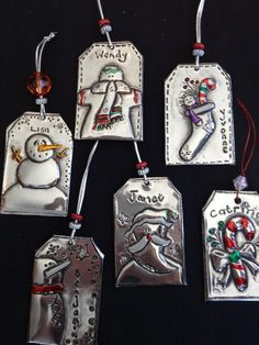 Tag Ornaments - The Pewter Room