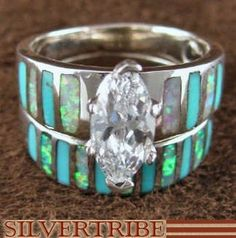 forget diamonds, turquoise is the way to go for a wedding band :P