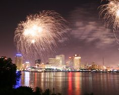 fireworks in new orleans on july 4th