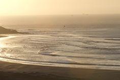 wave sunsett