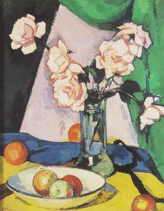 S J Peploe | Still Life with Roses