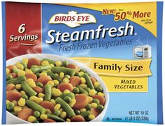 Mixed Vegetables - A blend of corn, peas, carrots, and cut green beans. Heart healthy. Very low sodium. Fat, cholesterol and gluten free. Excellent source of Vitamin A. Good source of antioxidants. All natural, no preservatives.