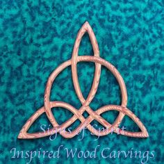 Celtic Triquetra of Harmony-Wood Carved Knot by signsofspirit Triquetra, Pentacle, Celtic Symbols, Celtic Art, Celtic Crafts, Witch Symbols, Celtic Patterns, Celtic Designs, Carving Tools