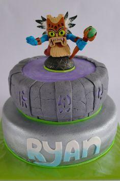 Skylanders cake top view My kids birthday parties Pinterest
