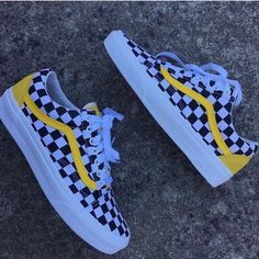 New Vans Old Skool classic black and white yellow checkerboard lattice  casual couple shoes pig eight green purple anti-counterfeit labels can scan  DT steel ... af89d3c372369