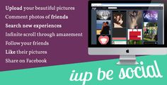 Iup   http://codecanyon.net/item/iup/6903220?ref=damiamio       Iup is an platform for much more than pictures. It's a new ecstatic experiences. It's a place for family photos, for art, for new projects. It's the you can call home by browsing through old memories.  Admin panel demo Demo: iup.vulpe.info/index.php?a=admin Username: admin Password: nytr0gen.george@gmail  Features  Upload your beautiful pictures into a infinite stream of amazement  Follow your friends  Comment photos of your…