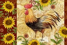 Medium Decoupage, Rooster Art, Doodle Doo, Chickens And Roosters, Frame Clipart, Colorful Animals, Borders And Frames, Animals Of The World, Hens
