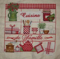 cross stitch. love a lot of those kitchen elements.