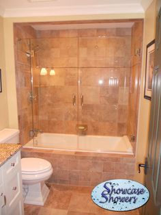 Travertine tile bathtub shower combo surround design ideas oil