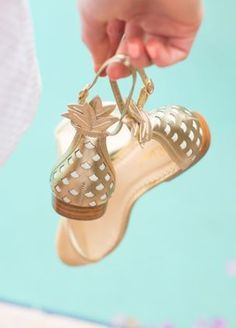 Lilly Pulitzer Laura Pineapple Flat Sandal