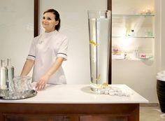 The Mykonos Grand 5 Star Luxury Resort & Hotel Spa reception area.