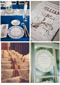 Decora tu boda con blondas de papel | Love Chocolate and Weddings