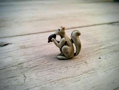 Little Squirrel Brooch - Holding Acorn - Squirrel Pin by InkedGypsy on Etsy https://www.etsy.com/listing/515543890/little-squirrel-brooch-holding-acorn