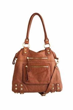 Linea Pelle, medium Dylan leather zip tote.