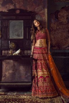 Gorgeous deep red bridal lehenga from Asiana Couture. #Frugal2Fab