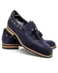 Artioli Blue Split Toe Tassel Loafer Suede leather upper Tonal top…