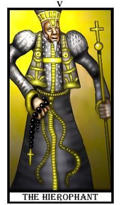 The Hierophant from Deck of the Dreamers The Hierophant, Major Arcana, Tarot Decks, Just For Fun, Tarot Cards, The Dreamers, Astrology, Creative, Tarot Card Decks