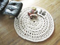 L&G handmade crochet cotton rope giant doily rugs - beautiful