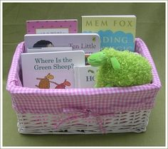 What a lovely gift idea for a new baby! It would also make a great baby shower gift. It's never too early to start reading to babies!