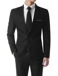 (SHJ462B) Single Breasted Notched Lapel Pocketchief 2 Button Business Jacket BLACK Chest 42(Tag size 2XL) TheLees http://www.amazon.com/dp/B017SO40VA/ref=cm_sw_r_pi_dp_JIXqwb13JVSFT